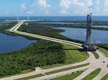 mobile launcher moving into position