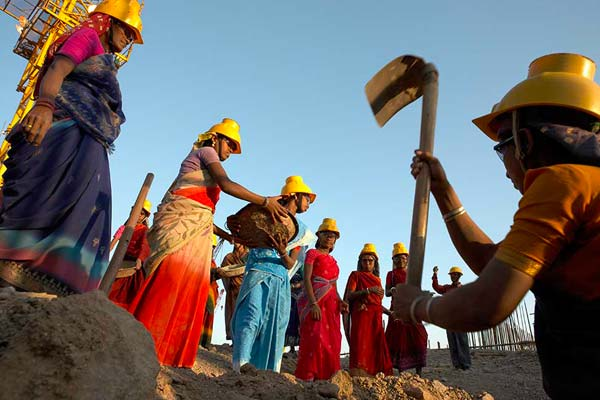 Local Workers at Jamnagar