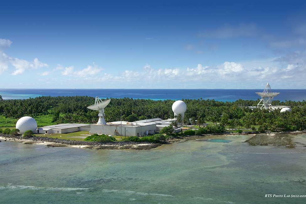 A view of Roi-Namur-island, where Kwajalein Range Services presently operates radars