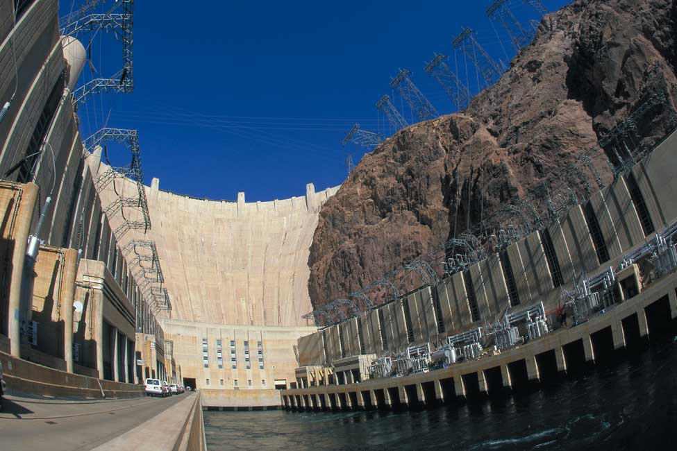 The dam's turbines generate electricity for Arizona, Nevada, and Southern California.