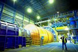 Inside Los Pelambres' ball mill