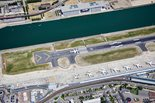 Aerial view of London City Airport runway ®AndrewHolt