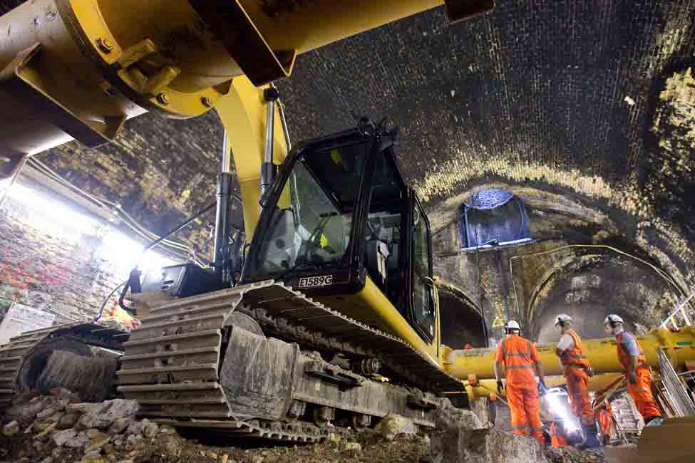 The project spent three years building 42km (26 miles) of new tunnels under London
