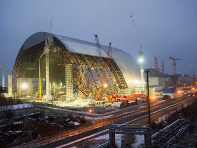Chernobyl safe confinement shelter