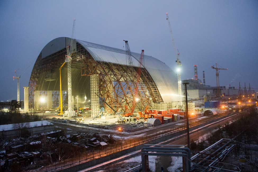 chernobyl reactor shelter and confinement